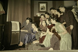 How people were glued to TV in the 50s